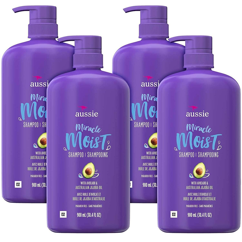 Aussie 袋鼠 奇迹保湿洗发水 含鳄梨和荷荷巴油 900ml*4瓶