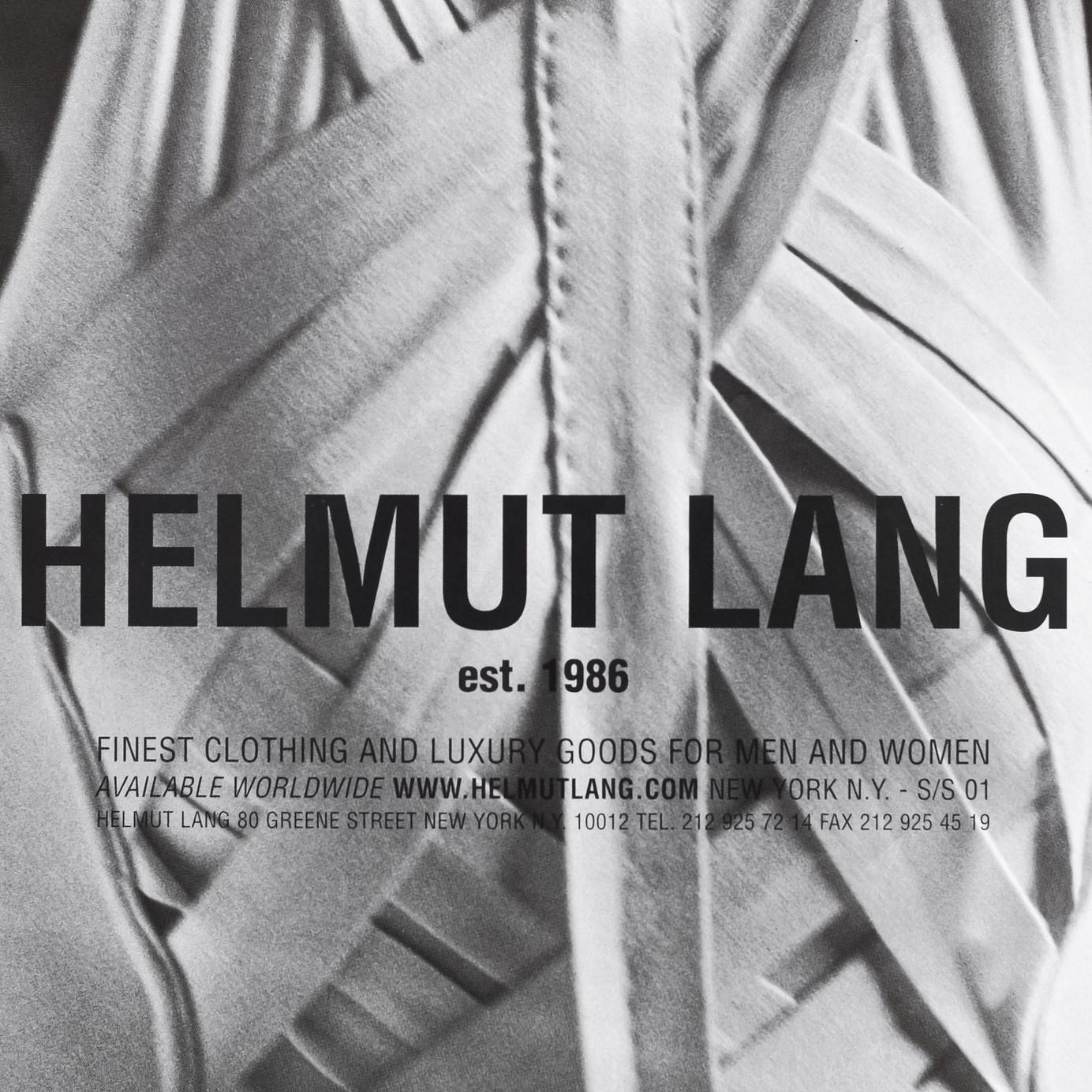 Helmut Lang: 美国设计师品牌热卖服饰