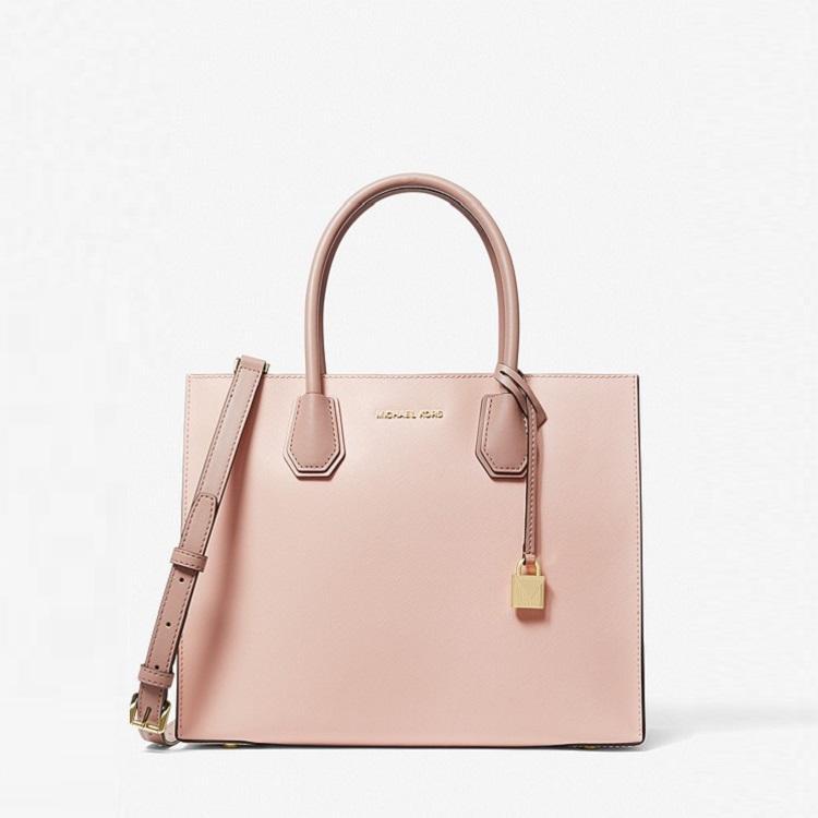Michael Kors Mercer Large Color-Block Saffiano Leather Tote Bag