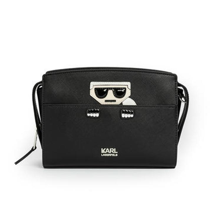 Karl Lagerfeld 卡尔老佛爷 新款卡通印花女士斜挎包 黑色 €97