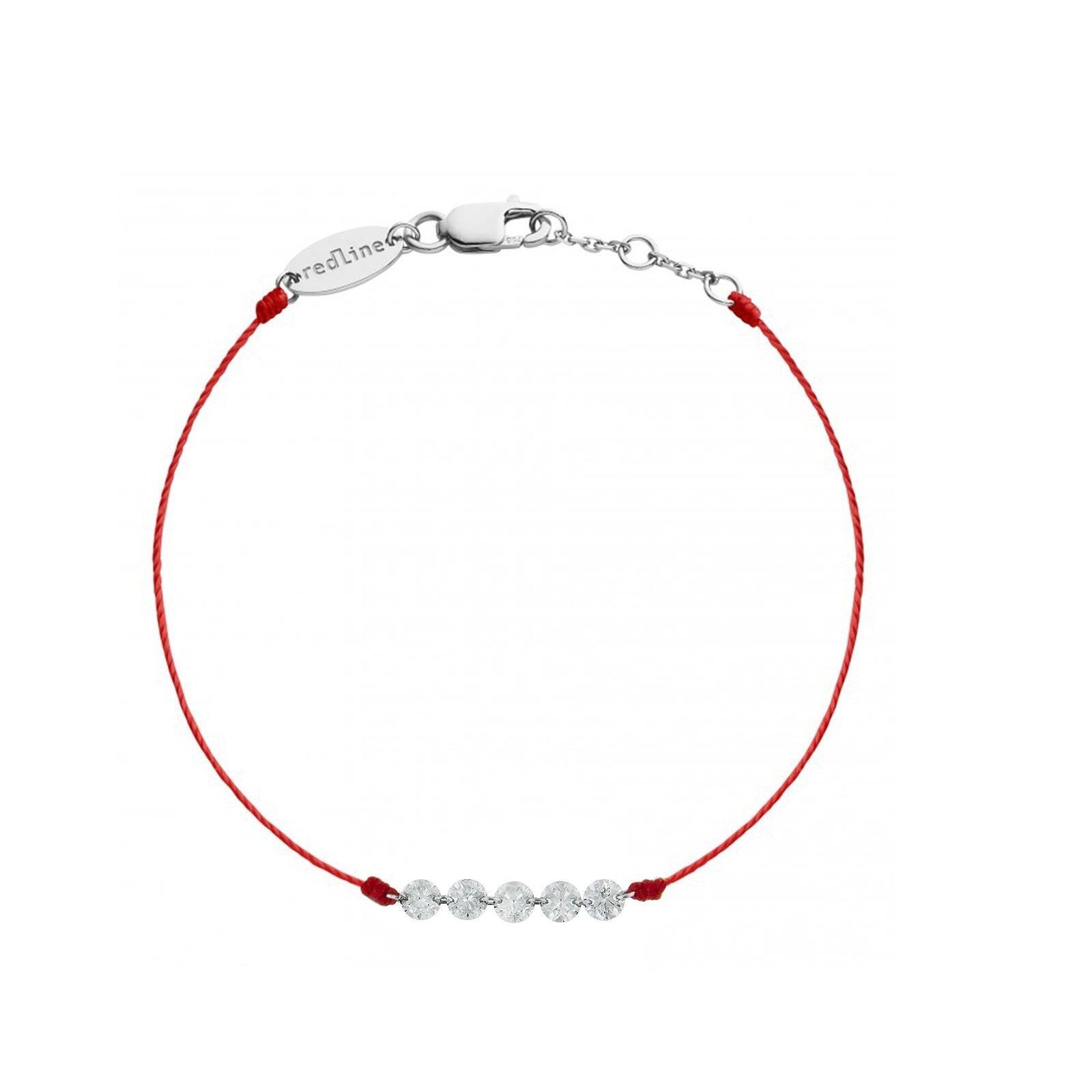 Redline小红绳系列—五个自由STRING白金红绳手链