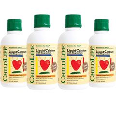 【亚马逊海外购】ChildLife 童年时光 宝宝钙镁锌乳钙液体补剂 6瓶*473ml