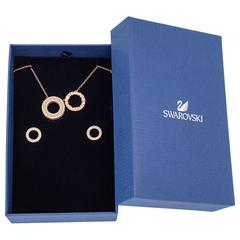 【2.2折】Swarovski 施华洛世奇 18k玫瑰金镀金 项链+耳钉