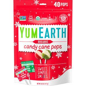【超级特惠】YumEarth 有机拐杖棒棒糖 野生薄荷口味 40支 .43(约31元) - 海淘优惠海淘折扣 55海淘网