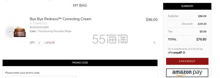 It Cosmetics 拜拜红血丝 CC霜 .6(约177元) - 海淘优惠海淘折扣 55海淘网