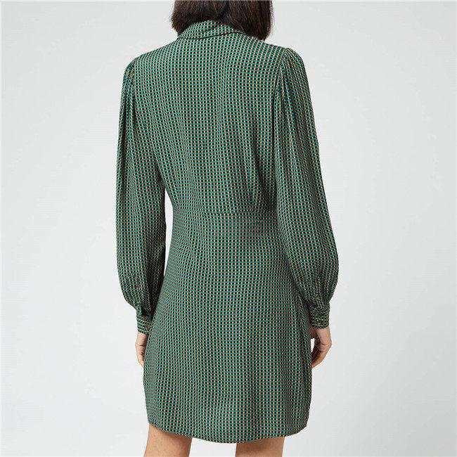 Ganni 细格纹撞色衬衫裙 ¥825.6 - 海淘优惠海淘折扣|55海淘网