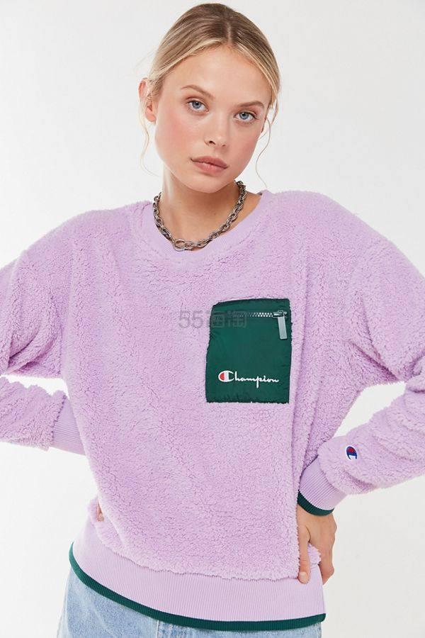 Champion 冠军 UO限定 Sherpa Crew Neck Sweatshirt 羊羔毛套头衫 .99(约171元) - 海淘优惠海淘折扣 55海淘网