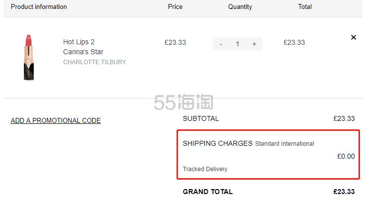 【限时1件免费直邮】Charlotte Tilbury Hot Lips 2代 限量包装口红 Carinas Star £23.33(约208元) - 海淘优惠海淘折扣|55海淘网
