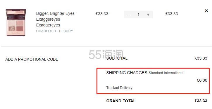 【限时1件免费直邮】Charlotte Tilbury CT 四色眼影盘 Exaggereyes £33.33(约297元) - 海淘优惠海淘折扣|55海淘网