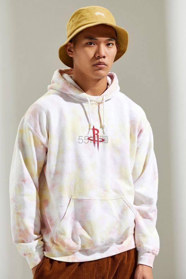 Houston Rockets 休斯顿火箭 Tie-Dye Hoodie 扎染渐变色连帽卫衣 .99(约190元) - 海淘优惠海淘折扣|55海淘网