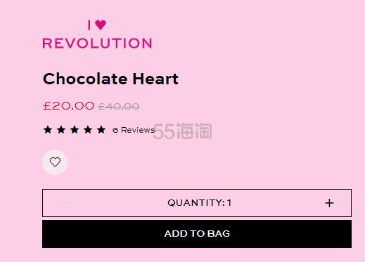 5折!Revolution 英国官网 情人节限量 巧克力彩妆礼盒 £20(约179元) - 海淘优惠海淘折扣|55海淘网