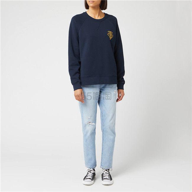 Tommy Hilfiger 基础复古徽章 logo 卫衣 ¥322.5 - 海淘优惠海淘折扣|55海淘网