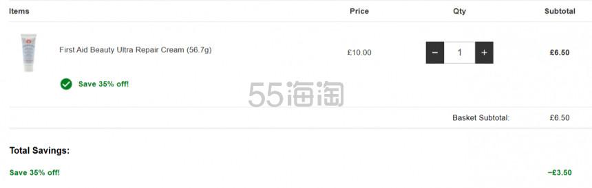 6.5折!First Aid Beauty FAB 急救面霜 56.7g £6.5(约59元) - 海淘优惠海淘折扣|55海淘网