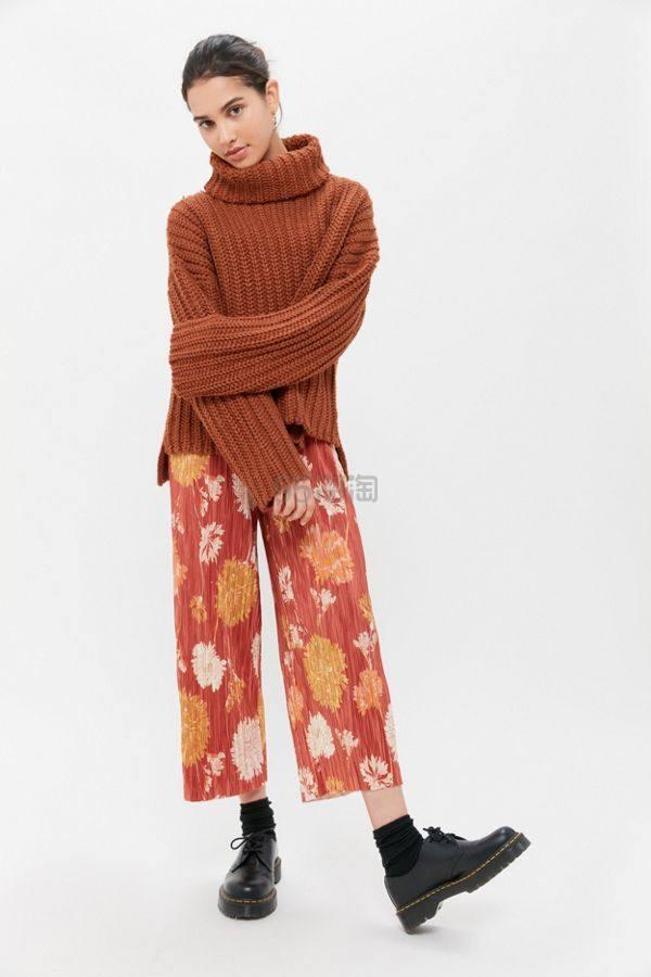 UO Mackie Pleated Pull-On Pant 百褶阔腿裤 .5(约202元) - 海淘优惠海淘折扣|55海淘网