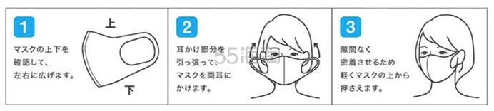 速抢! 日本进口 PITTA MASK 成人口罩 3枚(灰色)