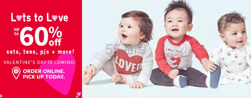 Carters 卡特美国官网童款T恤、套装、睡衣等 低至4折 - 海淘优惠海淘折扣 55海淘网