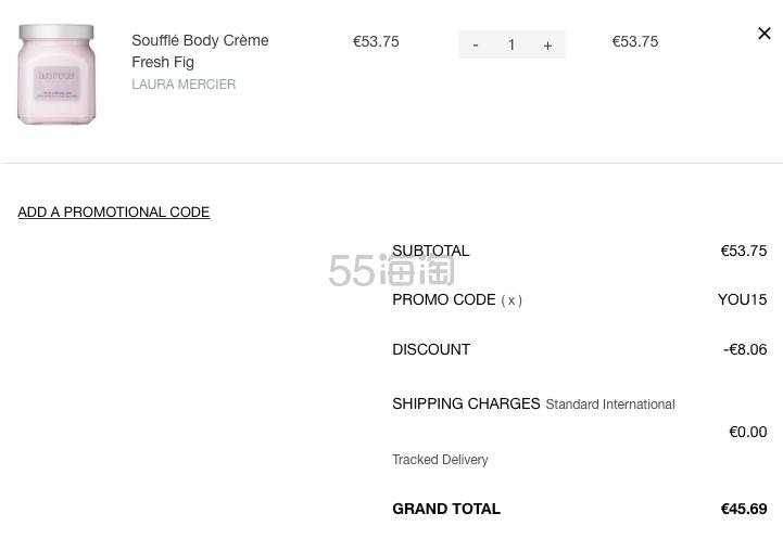 【1瓶免费直邮】Laura Mercier 身体乳 多款香味可选 300g €45.69(约350元) - 海淘优惠海淘折扣|55海淘网