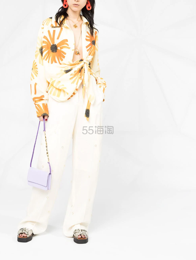 JACQUEMUS 花卉印花系腰带衬衫 ¥3,292 - 海淘优惠海淘折扣|55海淘网