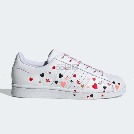 【上新】adidas Originals 三叶草 Superstar 女子板鞋 情人节限定 (约624元) - 海淘优惠海淘折扣|55海淘网
