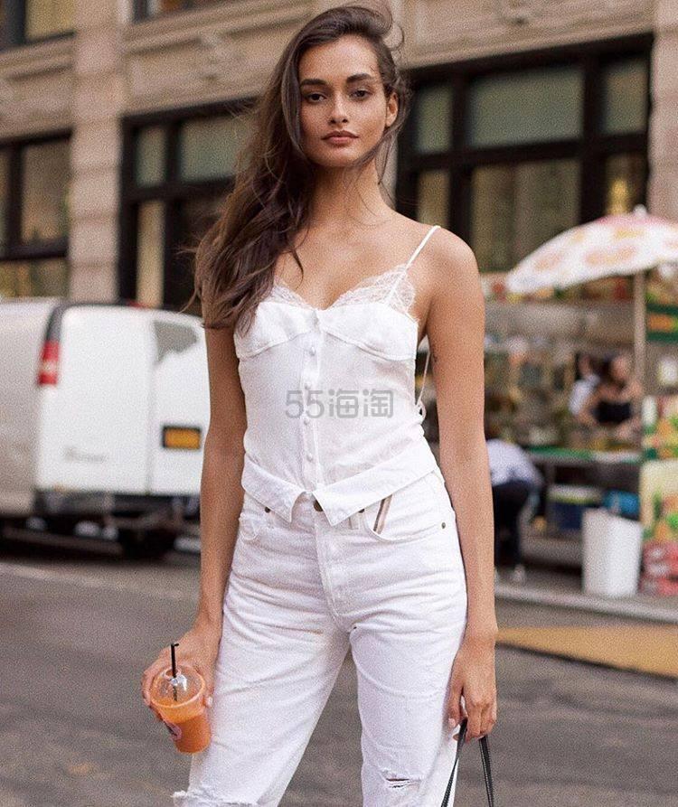 Jean Atelier 高腰直筒纯棉牛仔裤 0(约1,591元) - 海淘优惠海淘折扣|55海淘网