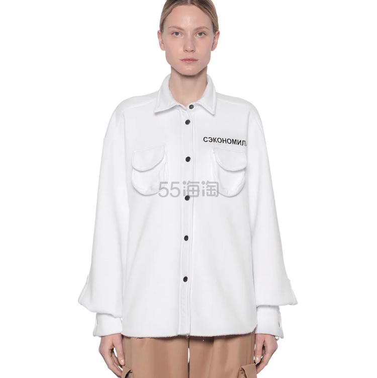 NATASHA ZINKO 大廓形棉混纺卫衣夹克 0(约1,244元) - 海淘优惠海淘折扣|55海淘网