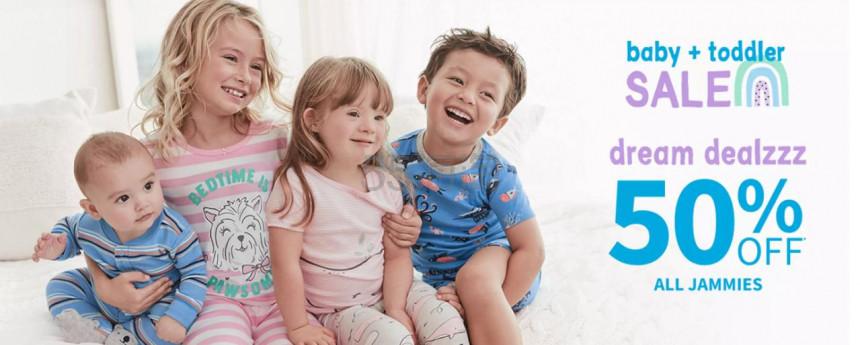 Carters:美国官网儿童睡衣 5折特卖 - 海淘优惠海淘折扣|55海淘网