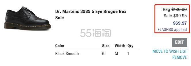 【额外7折】Dr.Martens 3989 5孔休闲鞋 中性款 .97(约490元) - 海淘优惠海淘折扣|55海淘网