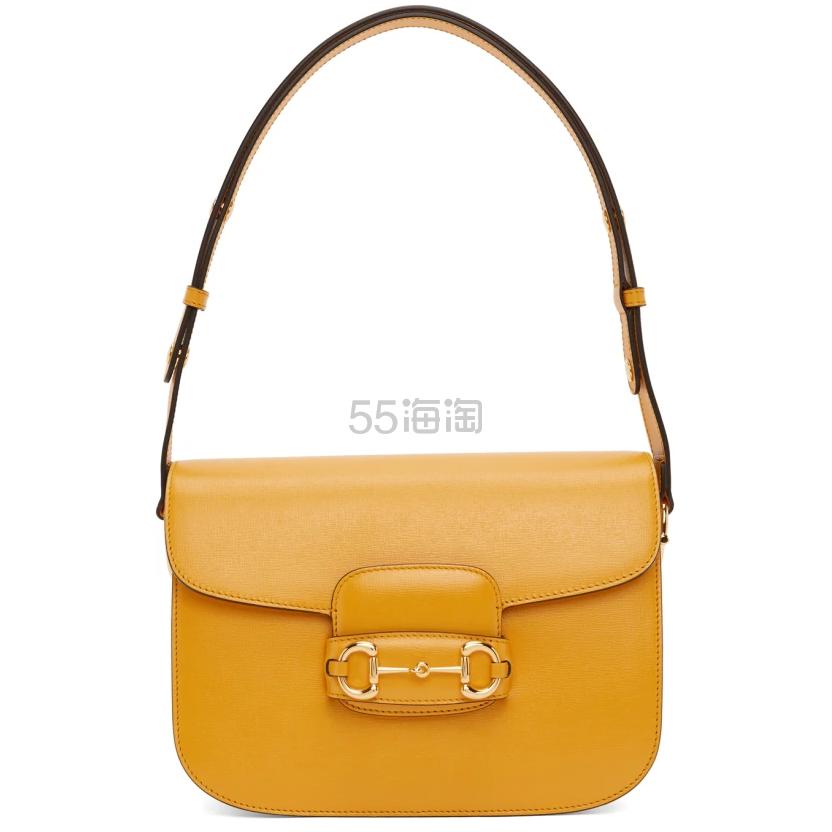Gucci 黄色 Gucci 1955 马衔扣单肩包 ,490(约17,485元) - 海淘优惠海淘折扣|55海淘网