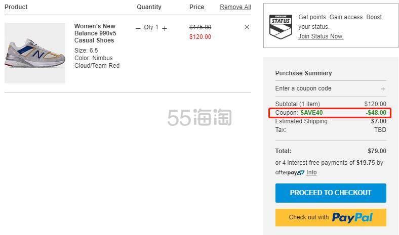 【额外6折】New Balance 新百伦 990v5 女子老爹鞋 (约503元) - 海淘优惠海淘折扣|55海淘网