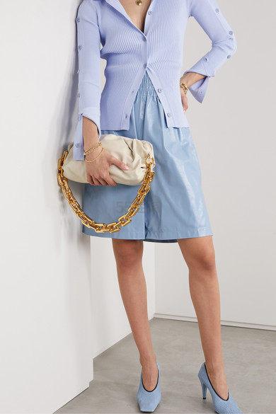 【即将补货】Bottega Veneta The Chain Pouch 缩褶皮革手拿包 4,970澳币(约20,801元) - 海淘优惠海淘折扣 55海淘网