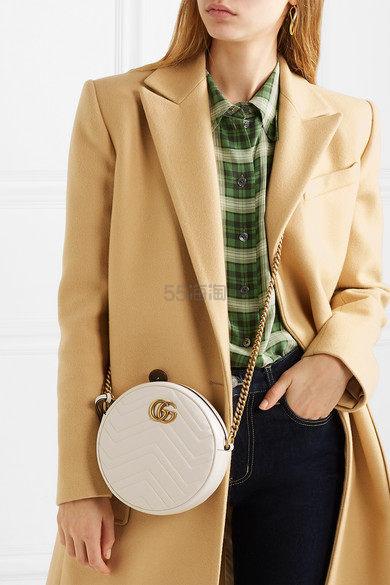 Gucci GG Marmont Circle 绗缝皮革单肩包 £802.09(约6,668元) - 海淘优惠海淘折扣|55海淘网