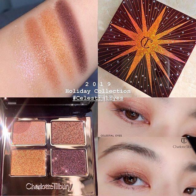 【恢复直邮】Charlotte Tilbury CT 圣诞限量四色眼影 神仙眼影盘 Celestial Eyes £35(约309元) - 海淘优惠海淘折扣|55海淘网