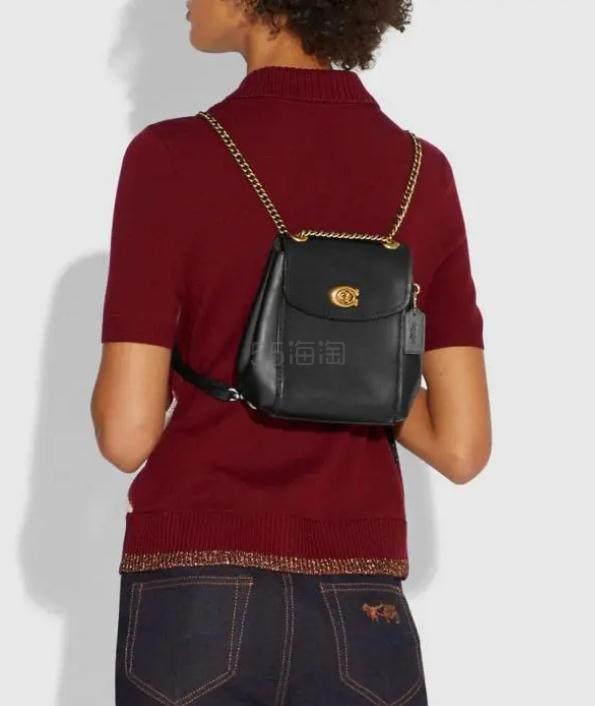 Coach Parker Convertible 黑色真皮背包 6.5(约1,446元) - 海淘优惠海淘折扣|55海淘网
