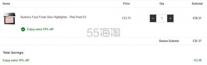 【升级】6.7折!Burberry 巴宝莉 蕾丝高光 4色可选 £30.37(约267元) - 海淘优惠海淘折扣 55海淘网