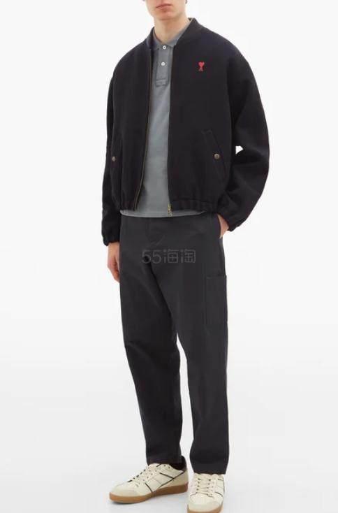 AMI Logo-appliquéd 男士polo衫 €78.4(约614元) - 海淘优惠海淘折扣|55海淘网