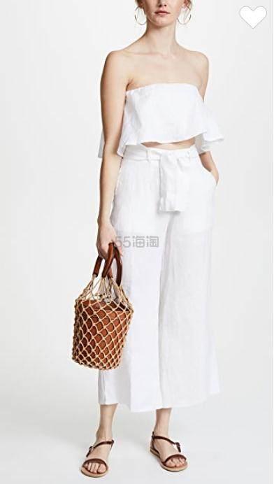 STAUD Moreau Bag 棕色网兜包 7.5(约1,318元) - 海淘优惠海淘折扣 55海淘网