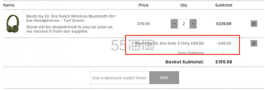 IWOOT:Beats by Dr. Dre Solo3 无线蓝牙耳机 (多色可选) 仅售 £99.99(约878元) - 海淘优惠海淘折扣|55海淘网