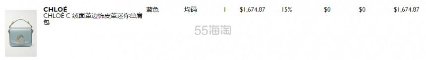 Chloé C 光滑皮革和仿鳄鱼纹皮革迷你单肩包 1,674.87澳币(约7,165元) - 海淘优惠海淘折扣 55海淘网