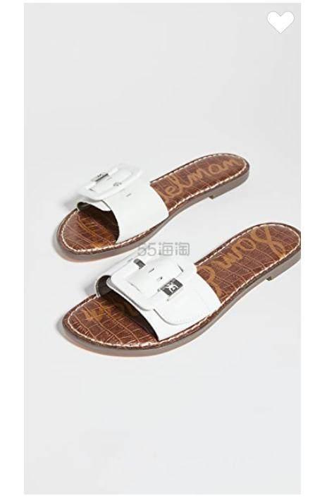 Sam Edelman Granada 白色真皮凉拖鞋 (约421元) - 海淘优惠海淘折扣 55海淘网