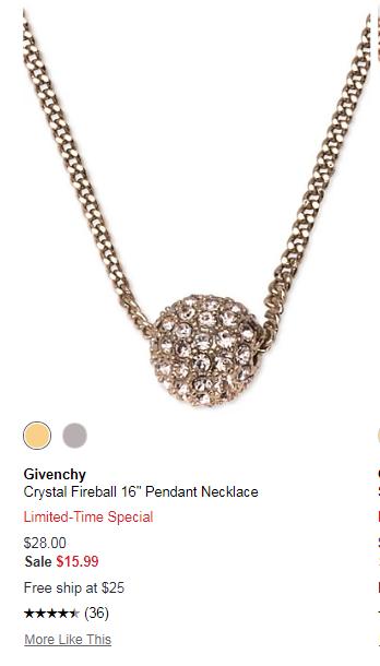【双色】Givenchy 纪梵希 玫瑰金星球水晶项链 .99(约112元) - 海淘优惠海淘折扣|55海淘网