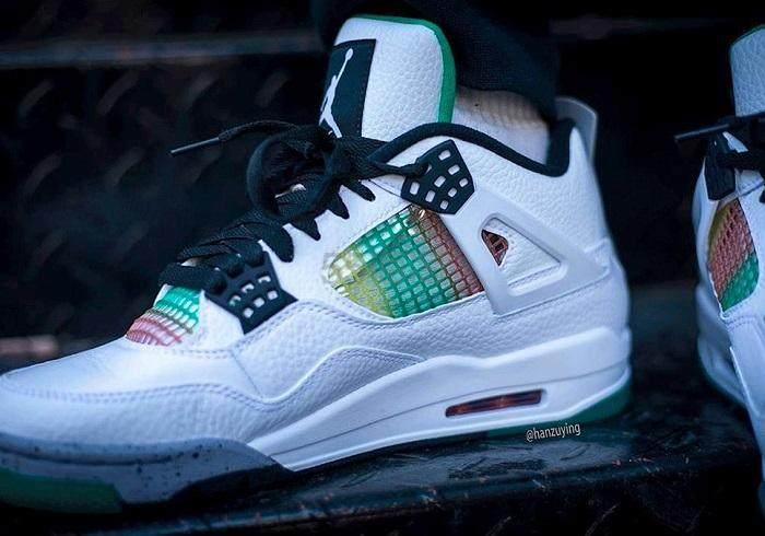 【5姐资讯】Air Jordan 乔丹 4 Retro 女子篮球鞋 Lucid Green 白绿 即将发售 - 海淘优惠海淘折扣 55海淘网