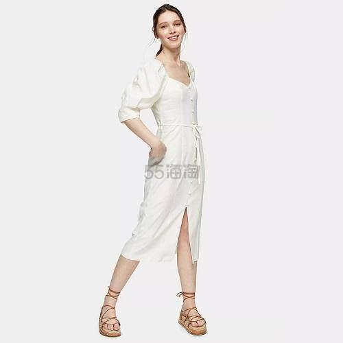 Topshop 方领排扣连衣裙 £35.1(约309元) - 海淘优惠海淘折扣|55海淘网
