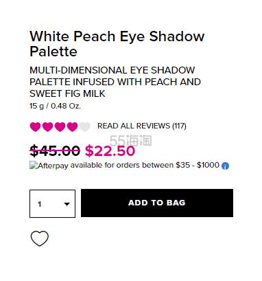 【5折】Too Faced 桃子系列白桃12色眼影盘 .5(约159元) - 海淘优惠海淘折扣|55海淘网