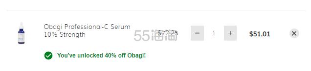【6折】Obagi 欧邦琪 10%浓度 左旋维C抗氧化精华液 30ml
