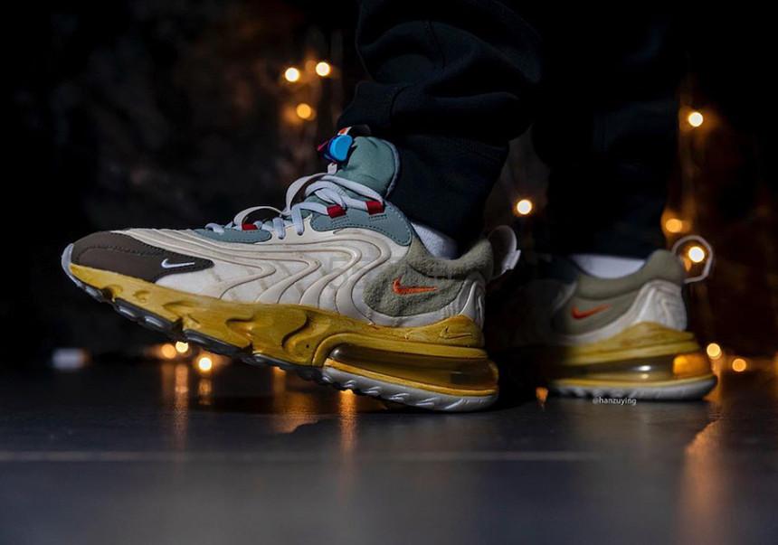 【Travis Scott联名】Nike Air Max 270 React ENG 耐克联名款休闲运动鞋