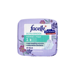 facelle 菲思乐丝滑超薄日用卫生巾无香防漏护翼3滴16片 230mm