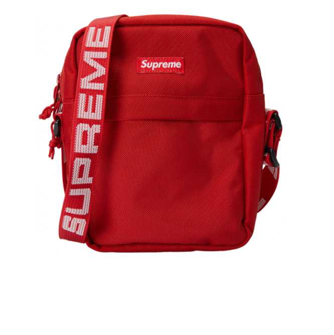StockX绿叉:Supreme Shoulder Bag (SS18) Red 斜挎包 红色