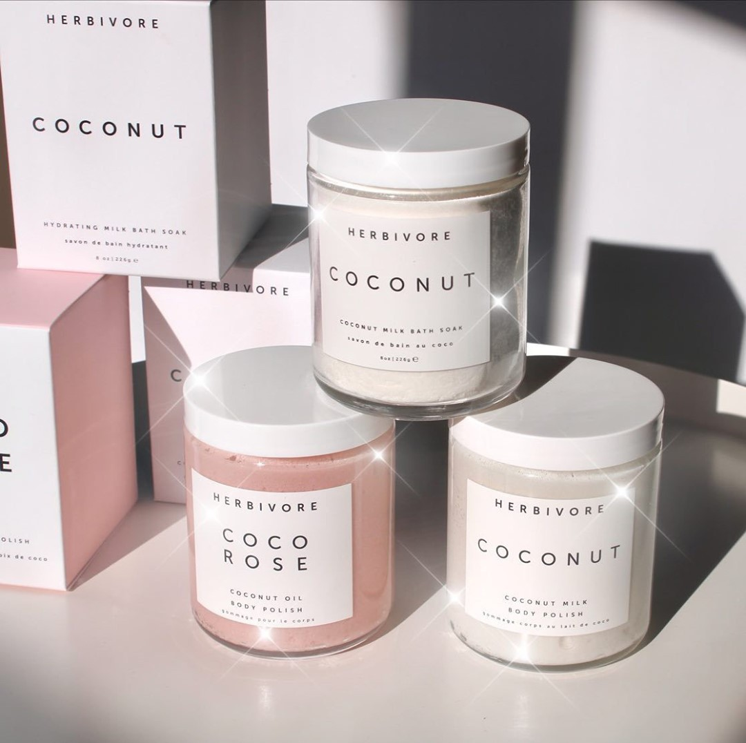 Space NK:Herbivore 身体护理单品热卖,收绝美玫瑰椰子身体磨砂
