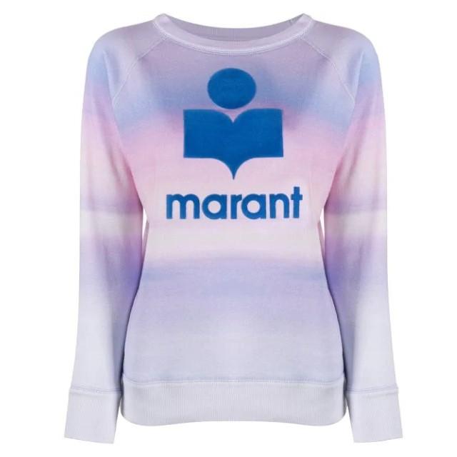 Isabel Marant Étoile log印花水彩效果套头衫