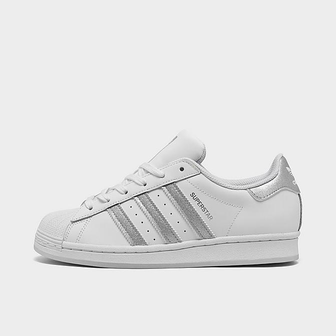 Adidas 阿迪达斯 Superstar 银条纹大童款贝壳头休闲鞋